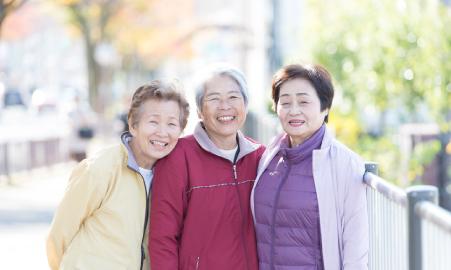 高齢者の笑顔